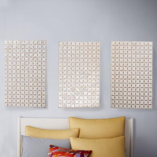 Capiz Wall Art – Triptych | West Elm With Capiz Wall Art (Image 10 of 20)