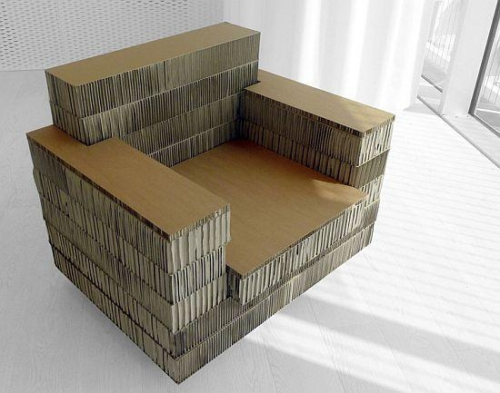 Cardboard Isn't Just For Packaging: Most Creative Reuses Of Within Cardboard Sofas (Image 15 of 20)