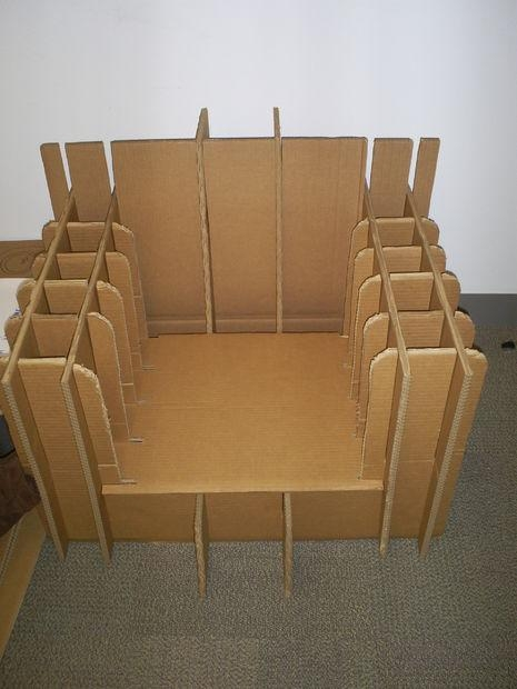 Cardboard Sofa: 5 Steps (With Pictures) Pertaining To Cardboard Sofas (Image 17 of 20)