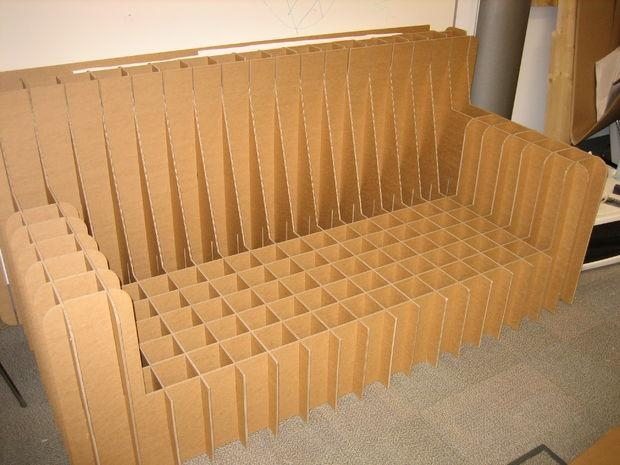 Cardboard Sofa: 5 Steps (With Pictures) Regarding Cardboard Sofas (Image 18 of 20)