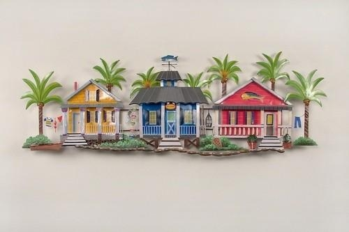 Caribbean Village Tropical Beach Decor Wall Art For Beach Themed Wall Art (Image 13 of 20)