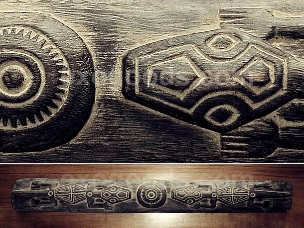 Carved Wooden Wall Panel With Two Lizards — Timor Tribal Primitive Pertaining To Wooden Tribal Mask Wall Art (View 13 of 20)