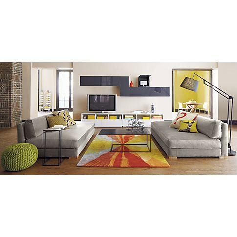 Cb2 Piazza Sofa In Storm Velvet | Casa | Pinterest | Living Rooms Throughout Cb2 Piazza Sofas (View 4 of 20)