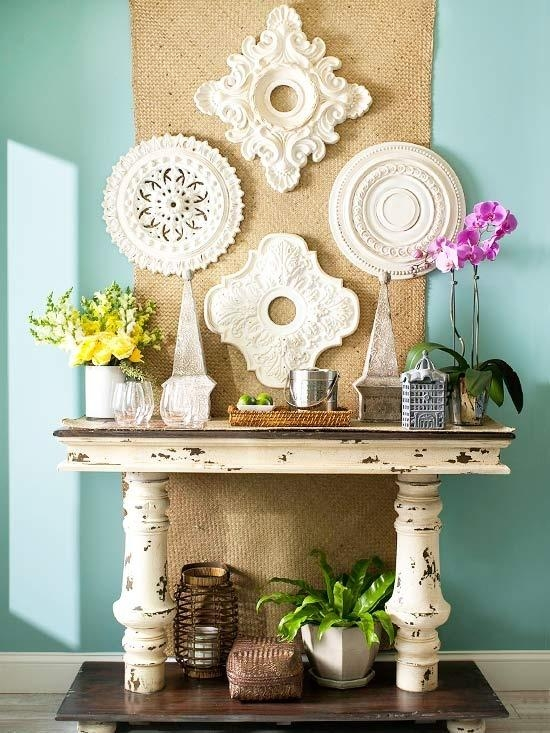 Ceiling Medallion Wall Art ~ Diy Throughout White Medallion Wall Art (Image 8 of 20)