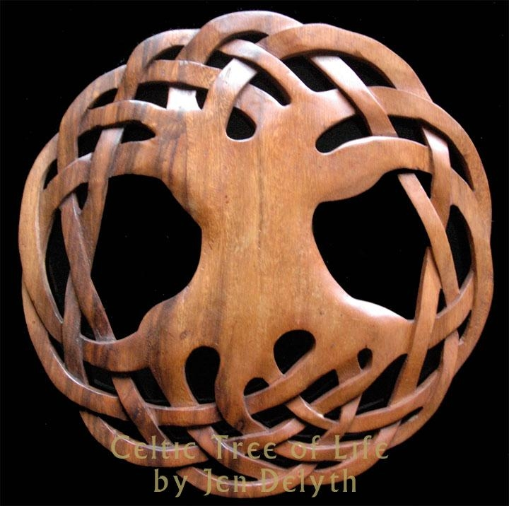 Celtic Tree Of Life – Wood Carved Wall Art Celtic Art Studio For Tree Of Life Wood Carving Wall Art (Image 6 of 20)
