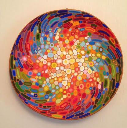Ceramic Wall Art Abstract Decorative Plate Colourful Wall Pertaining To Decorative Plates For Wall Art (Image 8 of 20)