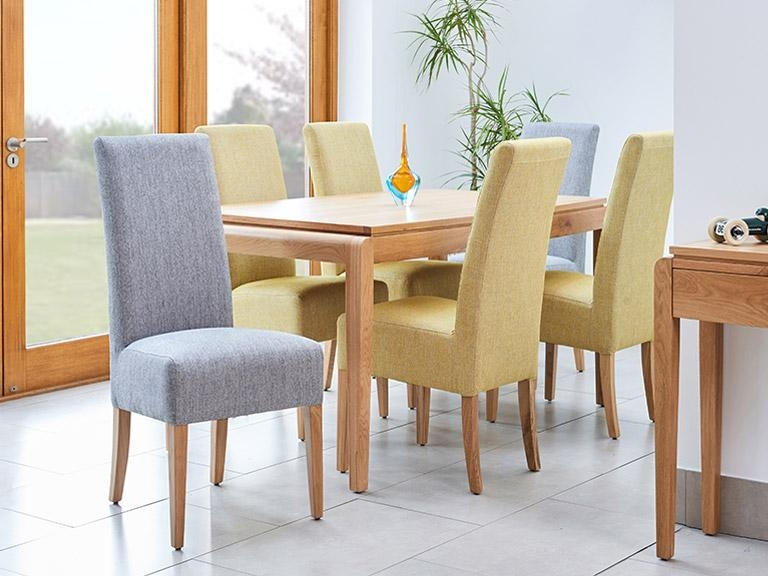 Chairs: Marvellous Fabric Dining Chairs Black Fabric Dining Chairs For Most Current Fabric Dining Chairs (Image 7 of 20)