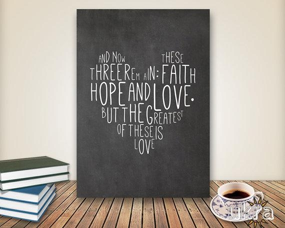 Chalkboard Art Bible Verse Wall Artprintable Scripture Print Pertaining To Biblical Wall Art (Image 10 of 20)