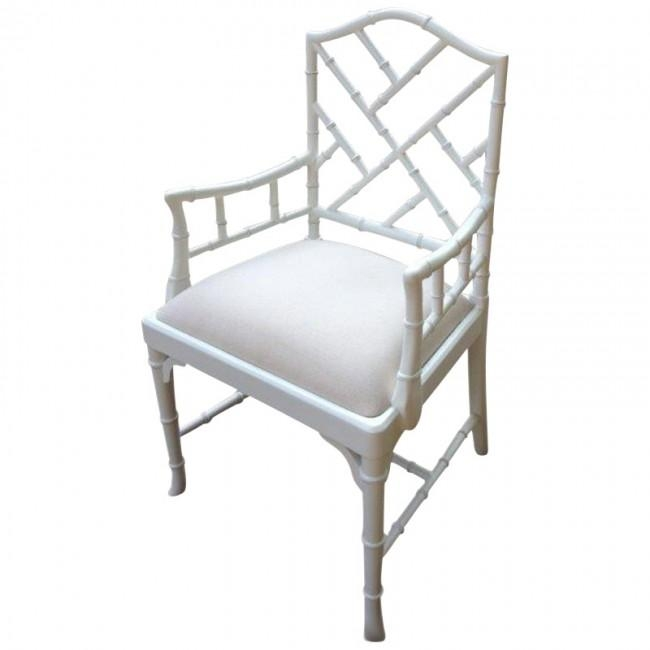 Charlotte Chinese Chippendale Dining Chairs In Current White Dining Chairs (Image 7 of 20)