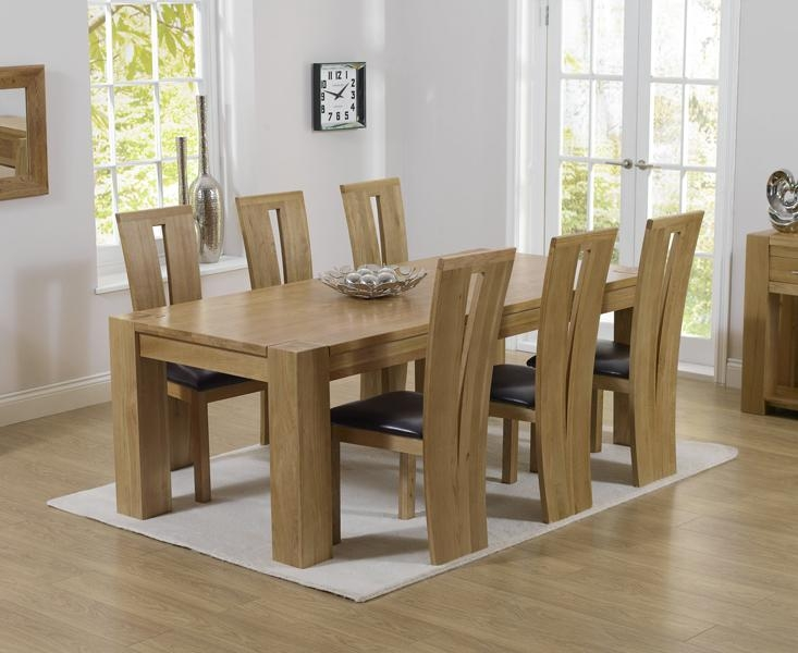 Charming Chunky Solid Oak Dining Table And 6 Chairs 52 For Dining In 2017 Oak Dining Set 6 Chairs (Image 5 of 20)