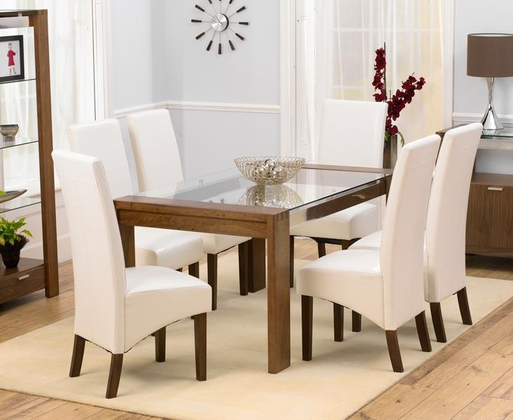 Charming Decoration 6 Chair Dining Table Set Smartness Design Within Most Recent Oak And Glass Dining Tables Sets (View 13 of 20)