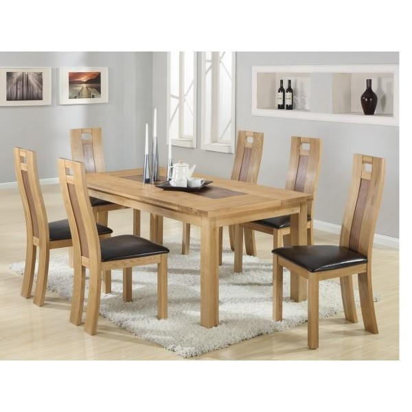 Charming Design 6 Chair Dining Table Set Stylist Ideas Dining For Latest Solid Oak Dining Tables And 6 Chairs (Image 7 of 20)