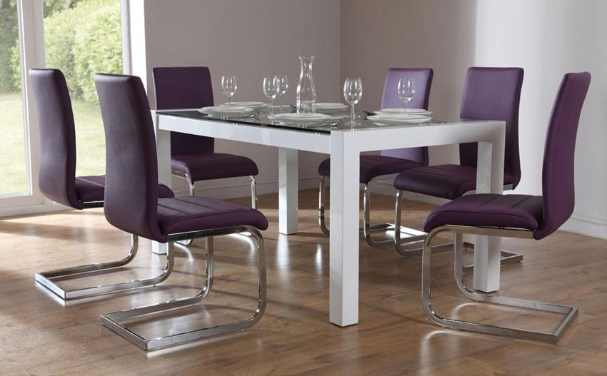 Charming Dining Table And Purple Chairs 34 For Your Best Dining Inside Recent Dining Tables And Purple Chairs (Image 9 of 20)