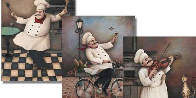 Charming Fat Chef Wall Decor : Fat Chef Kitchen Regarding Italian Chef Wall Art (Image 10 of 20)