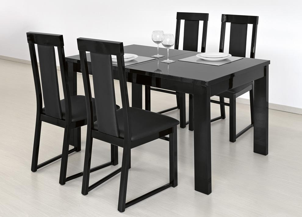 Charming Ideas Black Dining Tables Beautiful Design Black Dining Pertaining To Recent Black Extendable Dining Tables Sets (Image 8 of 20)