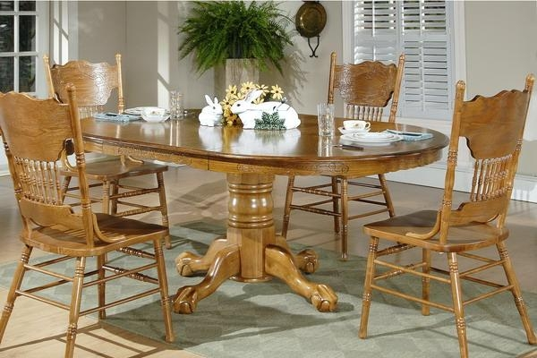 Charming Ideas Oak Dining Room Table And Chairs Creative Design With Best And Newest Cheap Oak Dining Sets (Image 4 of 20)