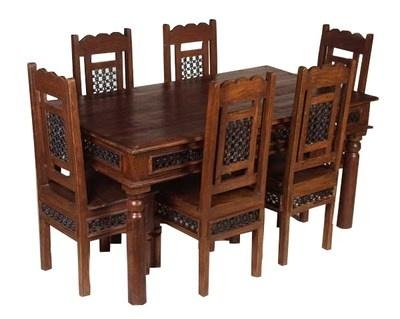 Charming Indian Dining Table And Chairs 18 With Additional Dining Within Indian Wood Dining Tables (Image 6 of 20)