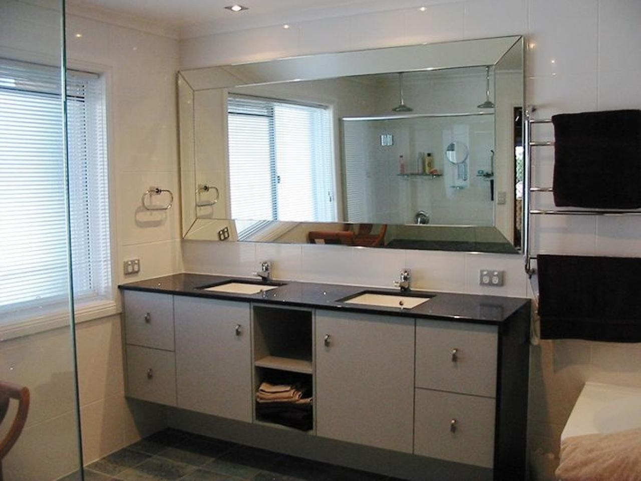 Charming Large Beveled Bathroom Mirrors Frameless With Modern Throughout Frameless Beveled Bathroom Mirrors (Image 9 of 20)