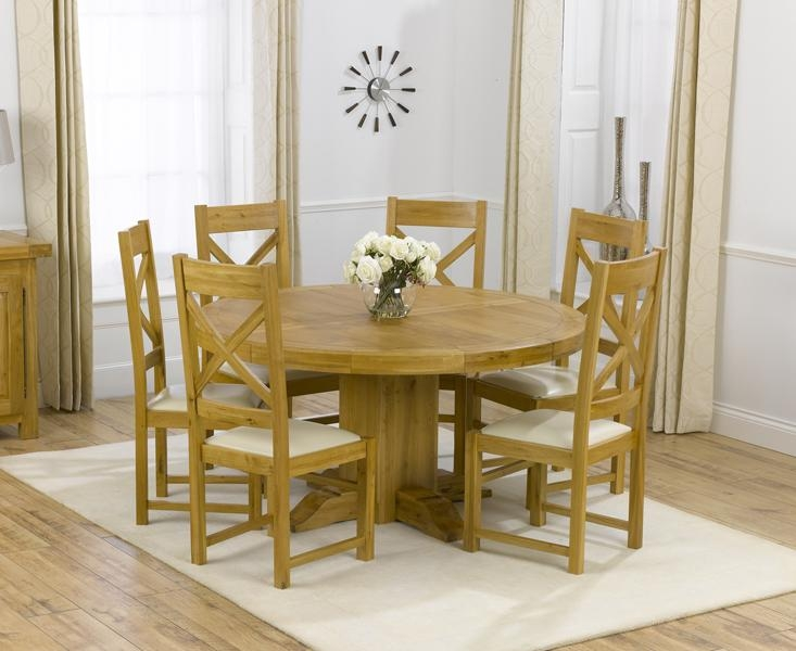Charming Round Oak Extendable Dining Table And Chairs 44 About Within Most Recent Extendable Round Dining Tables Sets (View 18 of 20)