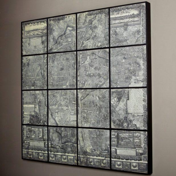 Charming Wall Decor Gray Wall Art For Bathroom Gray And White With Regard To Map Of Paris Wall Art (View 7 of 20)