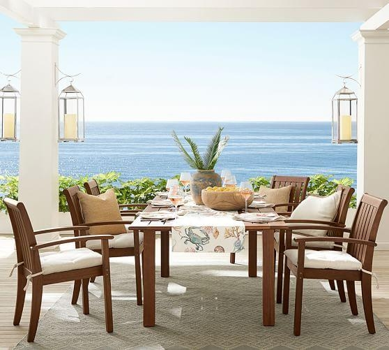Chatham Rectangular Extending Dining Table, Dark Honey | Pottery Barn With Extending Dining Tables And Chairs (View 14 of 20)