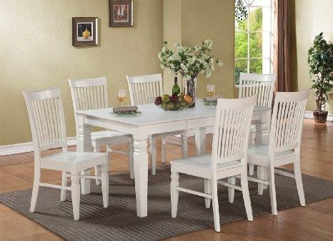 Cheap Dining Tables White Wood, Find Dining Tables White Wood Throughout Most Recent Wood Dining Tables And 6 Chairs (Image 7 of 20)
