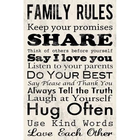 Cheap Family Rules Wall Art, Find Family Rules Wall Art Deals On Regarding Family Rules Canvas Wall Art (View 4 of 20)