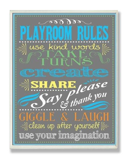 20 Best Ideas Playroom Rules Wall Art Wall Art Ideas