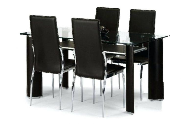 Cheapest Glass Dining Table And Chairs Used Glass Dining Table And Intended For Most Recent Cheap Glass Dining Tables And 4 Chairs (Image 7 of 20)