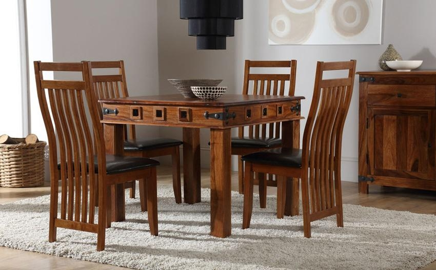 Cheerful Sheesham Dining Table | All Dining Room Regarding Newest Sheesham Dining Tables And 4 Chairs (View 16 of 20)
