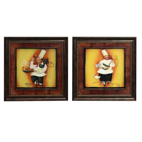 Chef' Framed 3D Metal Wall Art (Set Of 4) – Free Shipping Today Inside 3D Metal Wall Art (View 11 of 20)