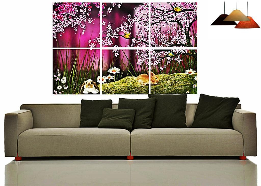 Cherry Blossom Split Wall Art Wall Art Canvasfashion Nation Within Split Wall Art (Image 5 of 20)