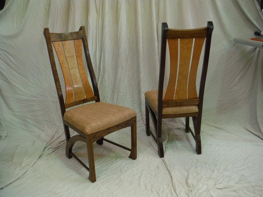 Chester Dining Chairs In Walnut  Bearkatwood @ Lumberjocks For 2017 Chester Dining Chairs (Image 8 of 20)