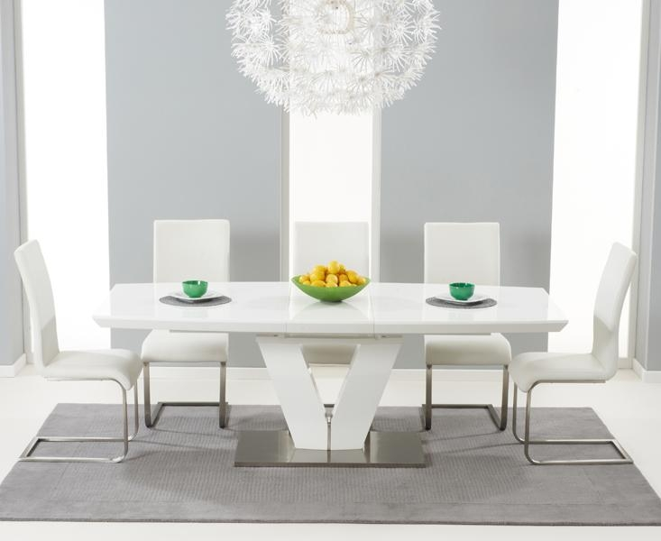 Chic Ideas White Gloss Dining Table | All Dining Room Within Gloss White Dining Tables And Chairs (Image 5 of 20)