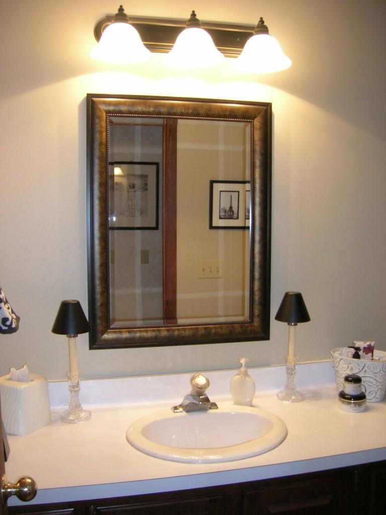 Chic Large Bathroom Vanity Mirror How To Install A Wall Vanity Pertaining To Small Bathroom Vanity Mirrors (View 12 of 20)
