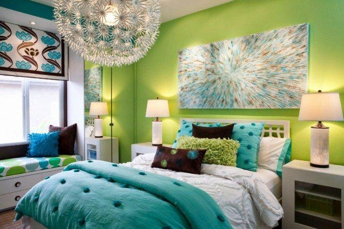 Chic Teenage Girl Bedroom With Pastel Wall Colors And Pink Inside Wall Art For Teenage Girl Bedrooms (Image 15 of 20)