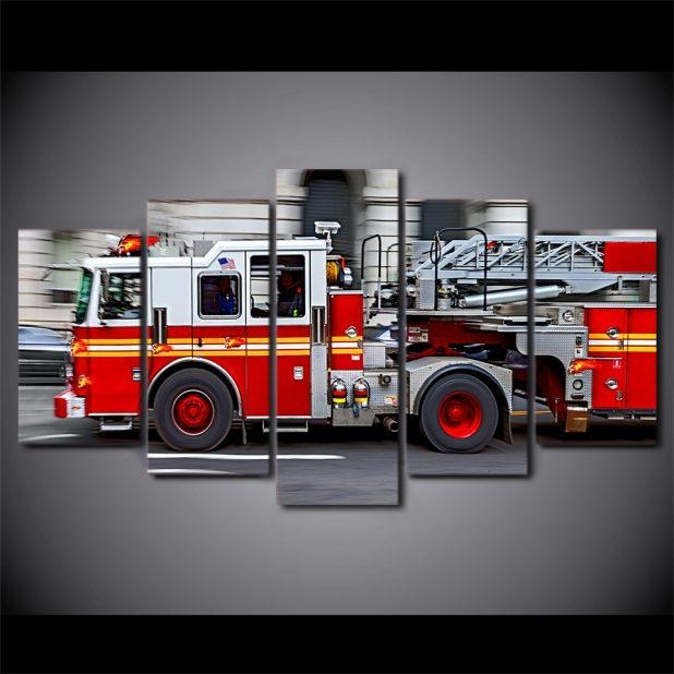 Chic Wall Ideas Fire Truck Wall Decal Fire Engine Wall Art Trendy Throughout Fire Truck Wall Art (View 20 of 20)