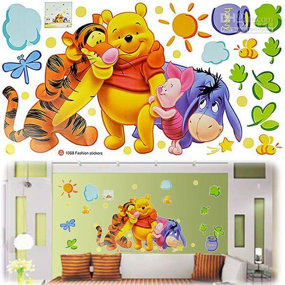 Children Baby Carton Pvc Wall Sticker ,winnie The Pooh,wall Decal With Regard To Winnie The Pooh Wall Decor (Image 5 of 20)