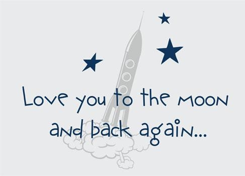 Children's Quotes & Sayings| Wall Decals & Stickers, Love You To With Regard To Love You To The Moon And Back Wall Art (Image 5 of 20)