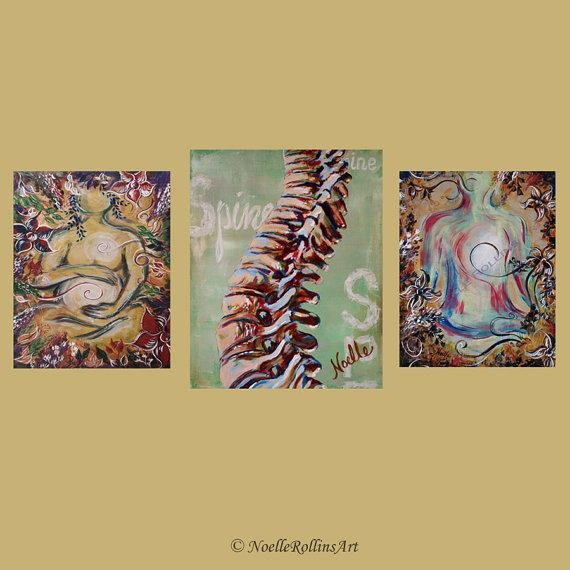 Chiropractic Artwork Trio Wall Art Set Of 3 Prints For Office Pertaining To Chiropractic Wall Art (Image 10 of 20)