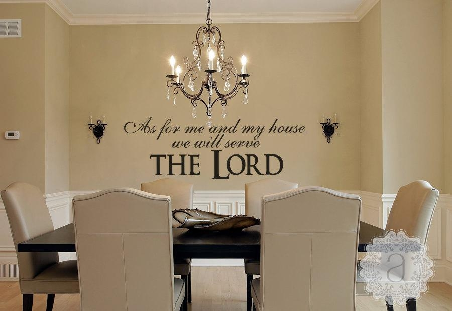 Christian Wall Decal As For Me And My House We Will Serve Throughout As For Me And My House Vinyl Wall Art (Image 12 of 20)