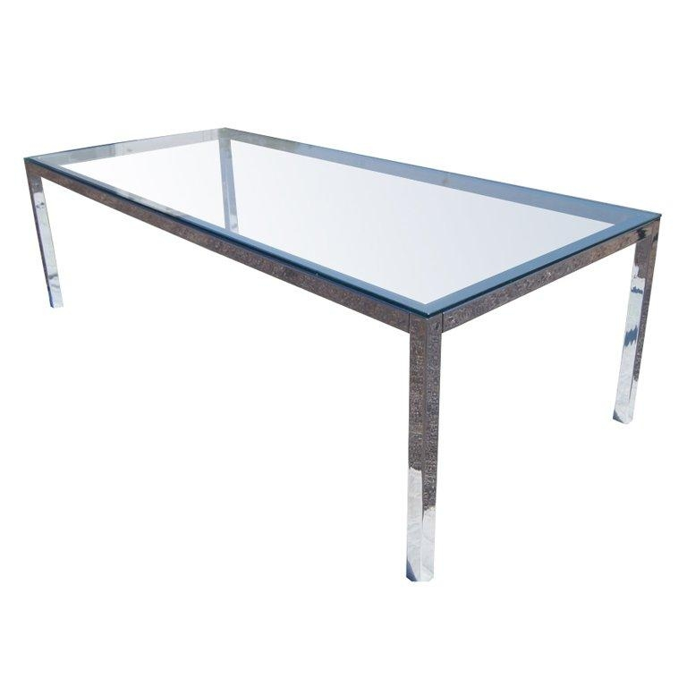Chrome And Glass Dining Table At 1Stdibs With Current Chrome Glass Dining Tables (Image 1 of 20)