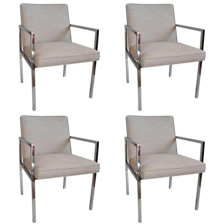 Chrome Dining Chairs – Milo Baughman At 1Stdibs For 2017 Chrome Dining Chairs (View 17 of 20)