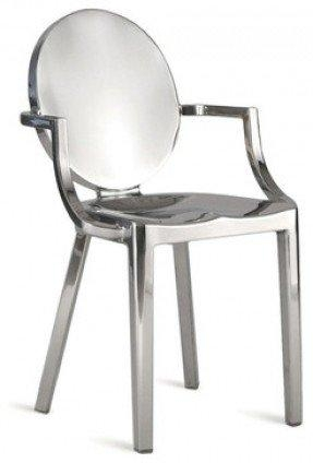 Chrome Dining Room Arm Chair – Foter Pertaining To Current Chrome Dining Chairs (Image 9 of 20)