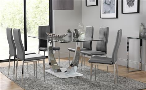Chrome Dining Sets | Furniture Choice Pertaining To Best And Newest Chrome Dining Room Chairs (Image 4 of 20)