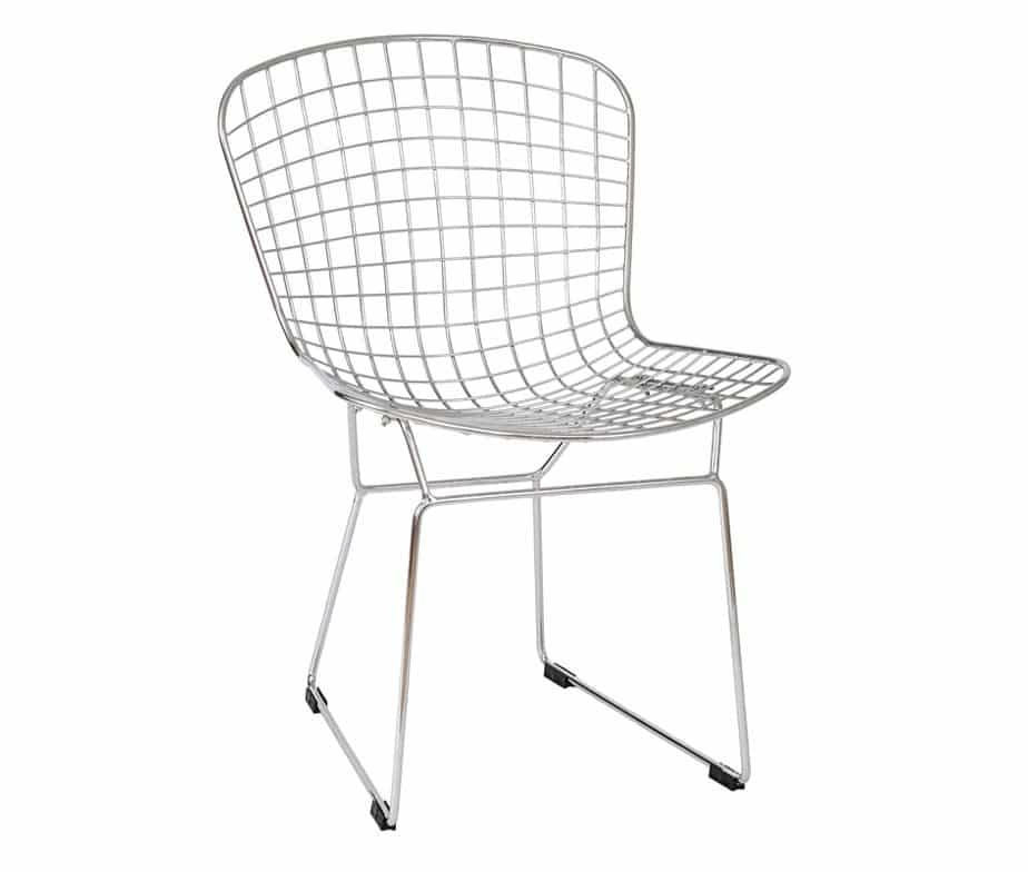 Chrome Mesh Dining Chair With Sled Legswarner Contracts With 2018 Chrome Dining Chairs (Image 10 of 20)