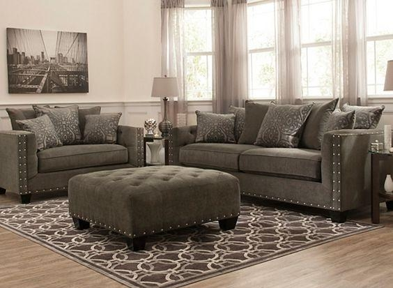 Cindy Crawford Calista Microfiber Chair And A Half | Living Room Within Cindy Crawford Microfiber Sofas (View 2 of 20)