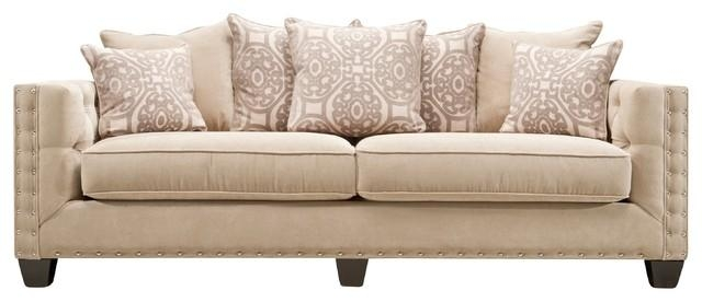 Cindy Crawford Calista Microfiber Sofa Within Cindy Crawford Microfiber Sofas (Image 12 of 20)
