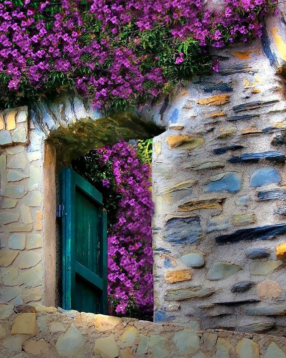 Cinque Terre Italy Photography Monterosso Bougainvillea Stone Throughout Italian Stone Wall Art (Image 11 of 20)