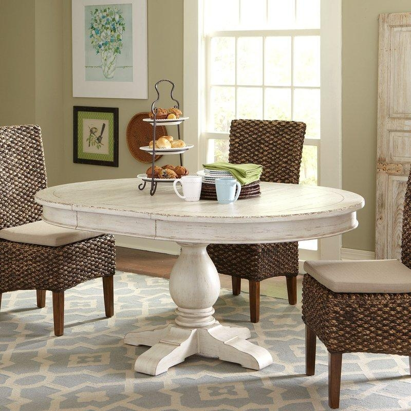 Clearbrook Round Extending Dining Table & Reviews | Birch Lane Regarding Most Popular Round Extendable Dining Tables And Chairs (Image 9 of 20)